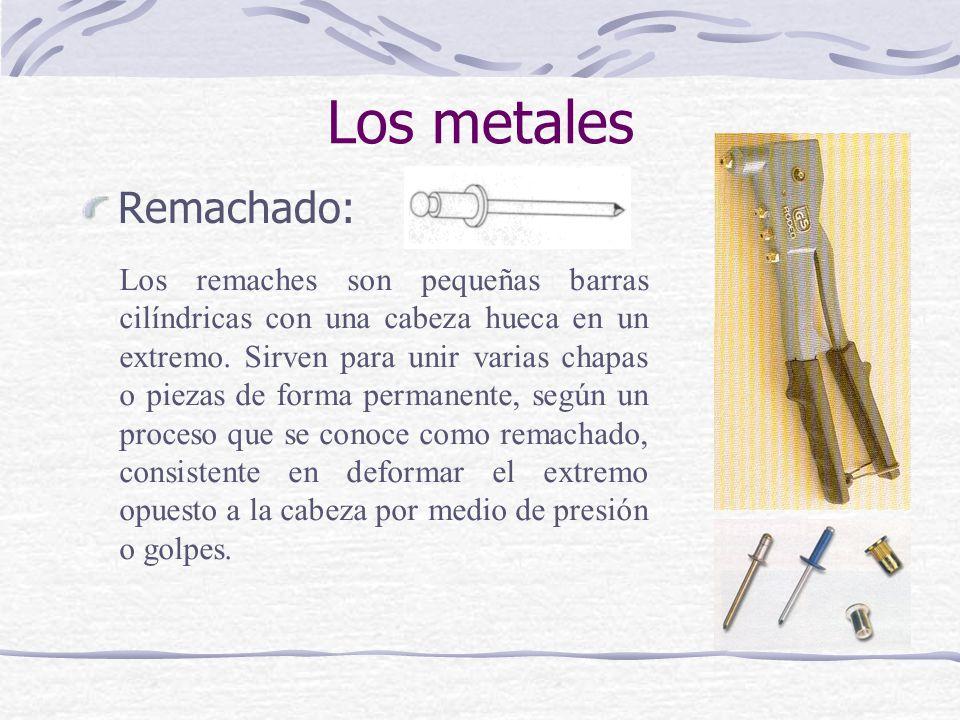 Los metales Remachado: