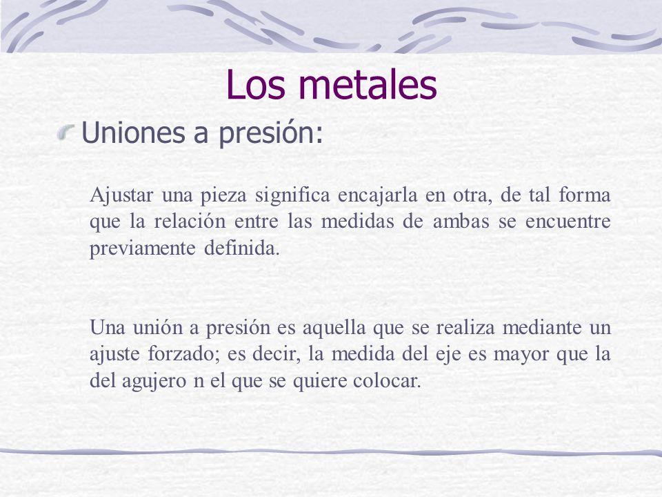 Los metales Uniones a presión: