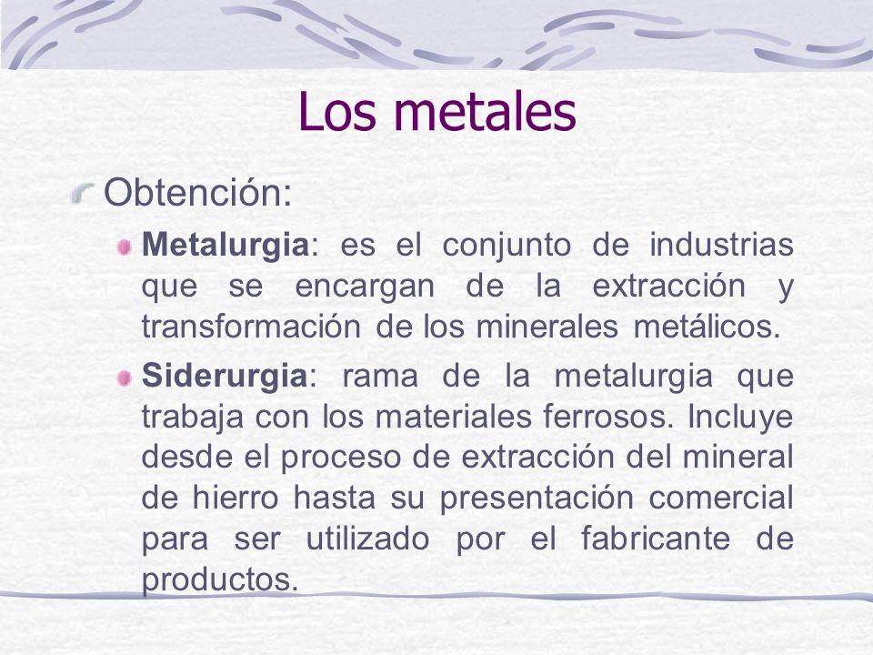 Los metales Obtención: