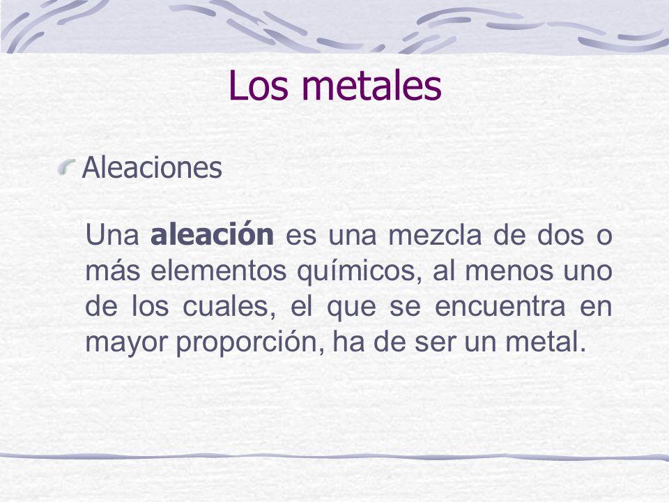 Los metales Aleaciones