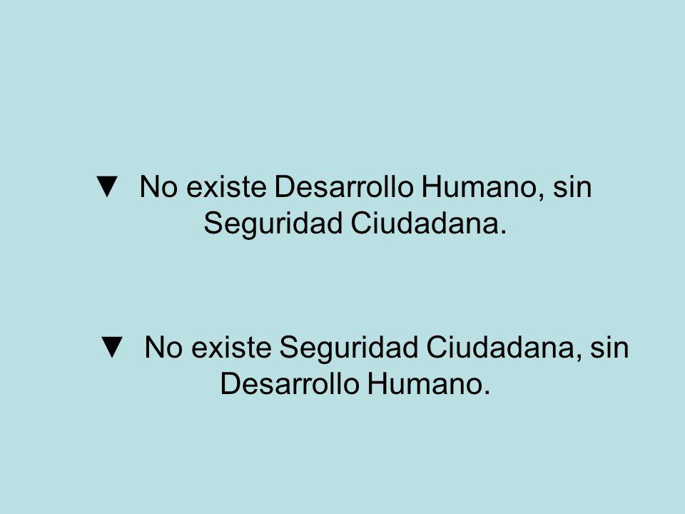 ▼ No existe Desarrollo Humano, sin Seguridad Ciudadana.