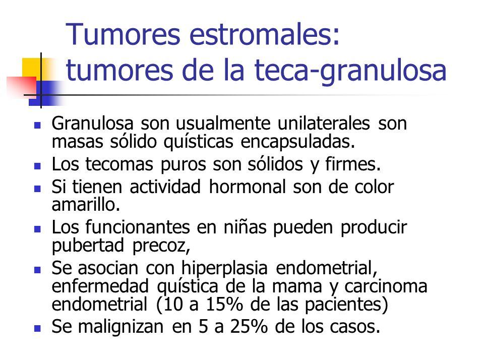 Tumores estromales: tumores de la teca-granulosa
