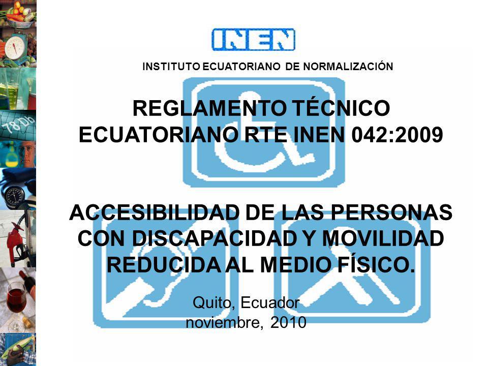 REGLAMENTO TÉCNICO ECUATORIANO RTE INEN 042:2009