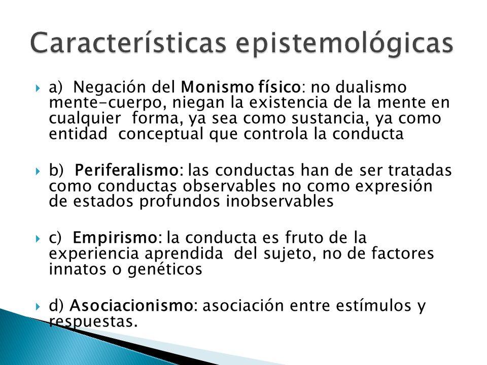 Características epistemológicas