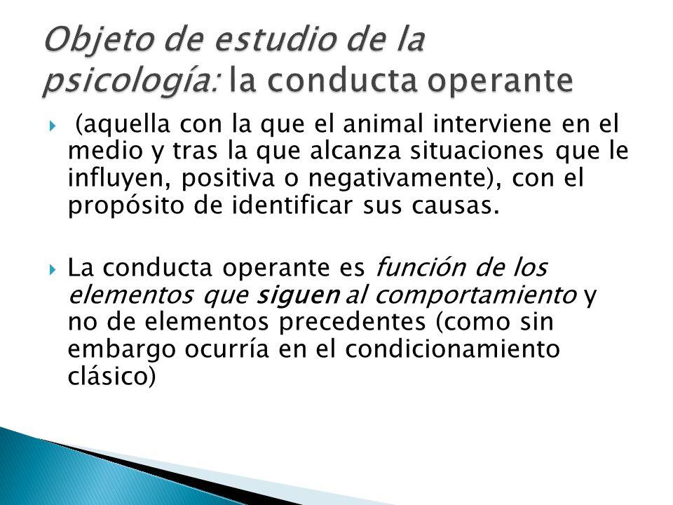 Objeto de estudio de la psicología: la conducta operante
