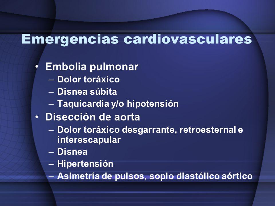Emergencias cardiovasculares