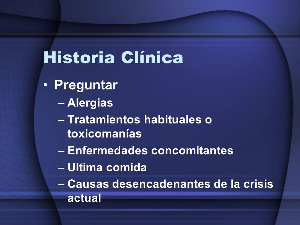 Historia Clínica Preguntar Alergias