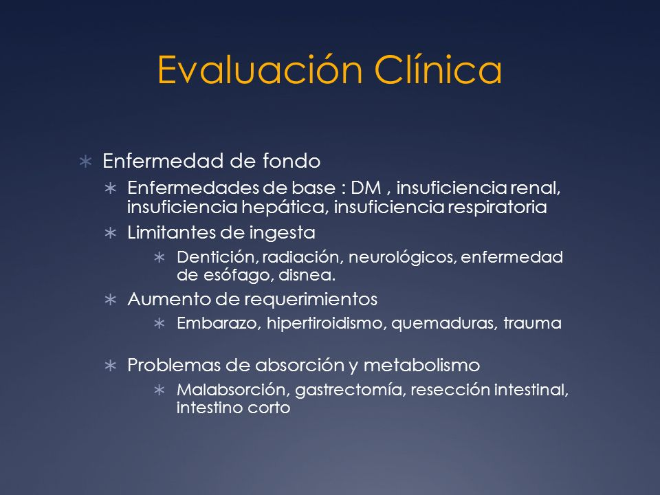 Evaluación Clínica Enfermedad de fondo