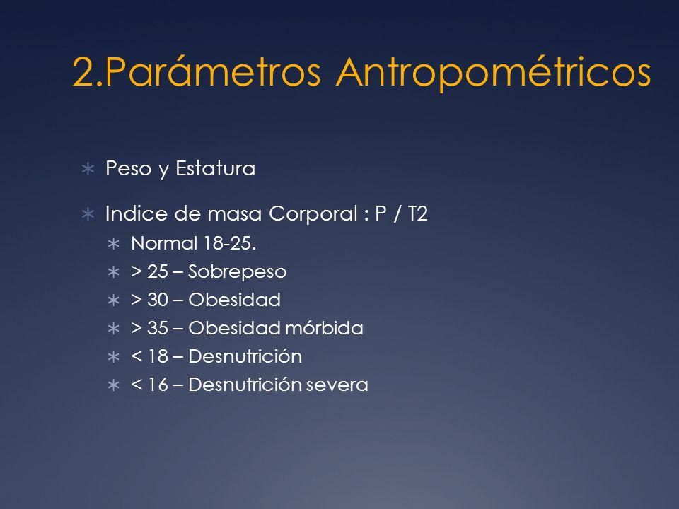 2.Parámetros Antropométricos
