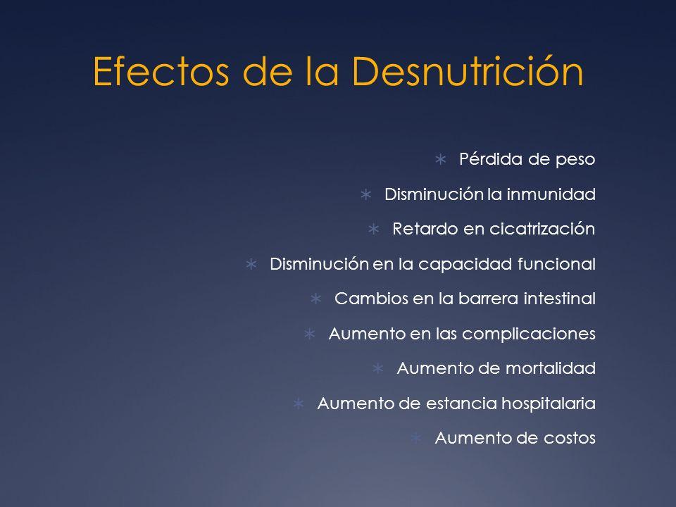 Efectos de la Desnutrición