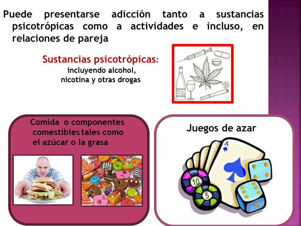 Sustancias psicotrópicas: nicotina y otras drogas
