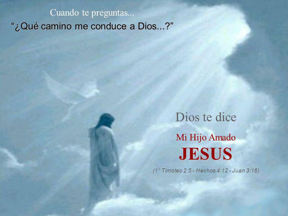 JESUS Dios te dice Cuando te preguntas...