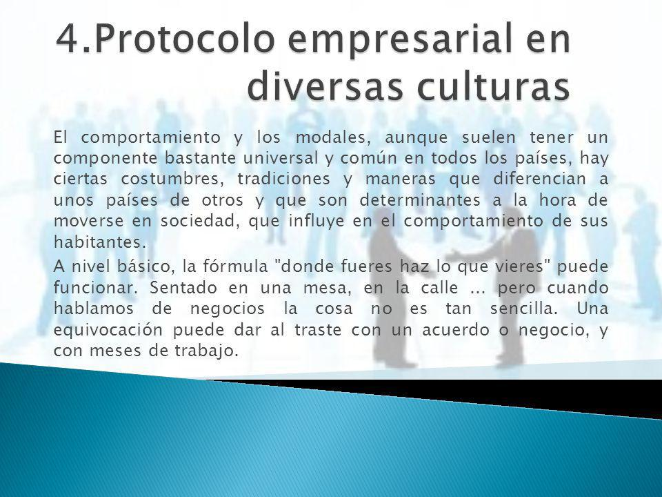 4.Protocolo empresarial en diversas culturas