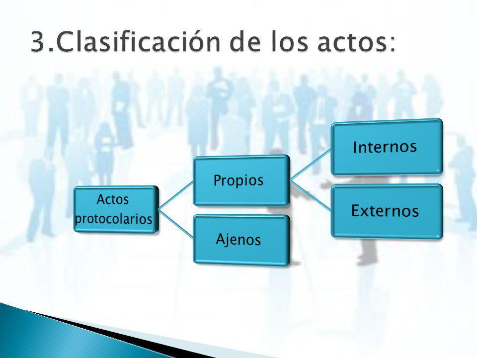 3.Clasificación de los actos: