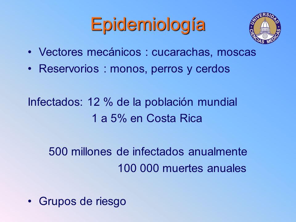 500 millones de infectados anualmente