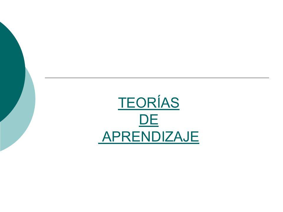 TEORÍAS DE APRENDIZAJE
