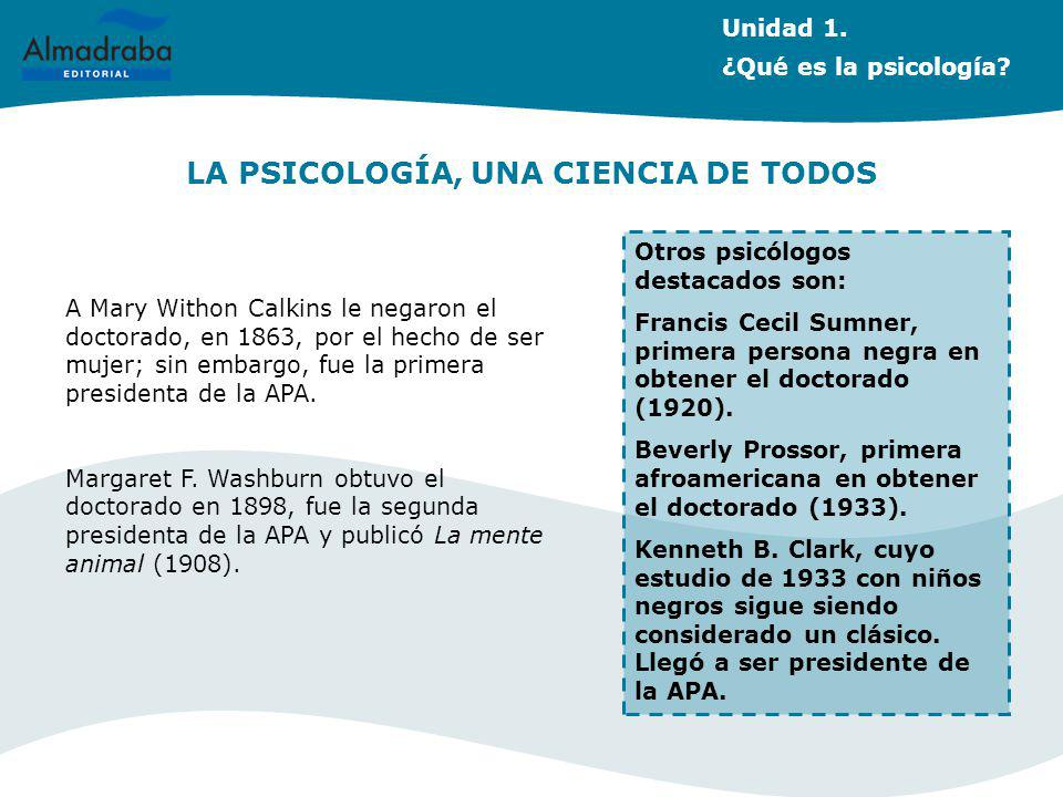 LA PSICOLOGÍA, UNA CIENCIA DE TODOS