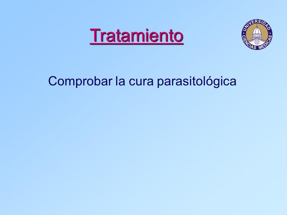 Comprobar la cura parasitológica
