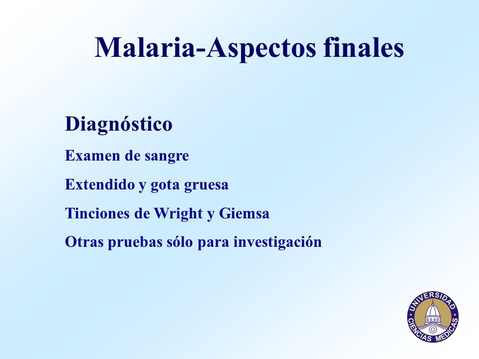 Malaria-Aspectos finales