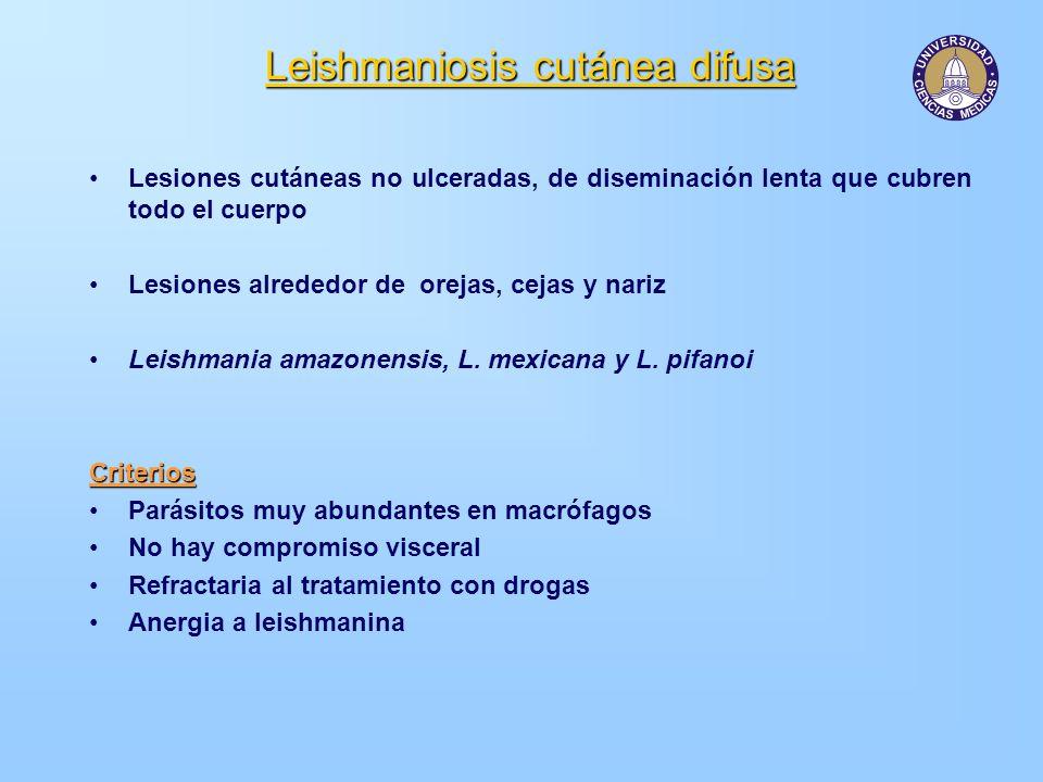 Leishmaniosis cutánea difusa