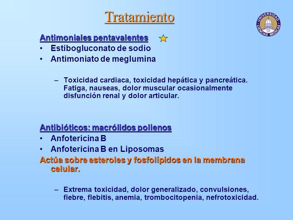 Tratamiento Antimoniales pentavalentes Estibogluconato de sodio