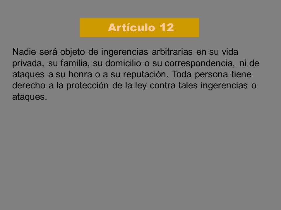 Artículo 12