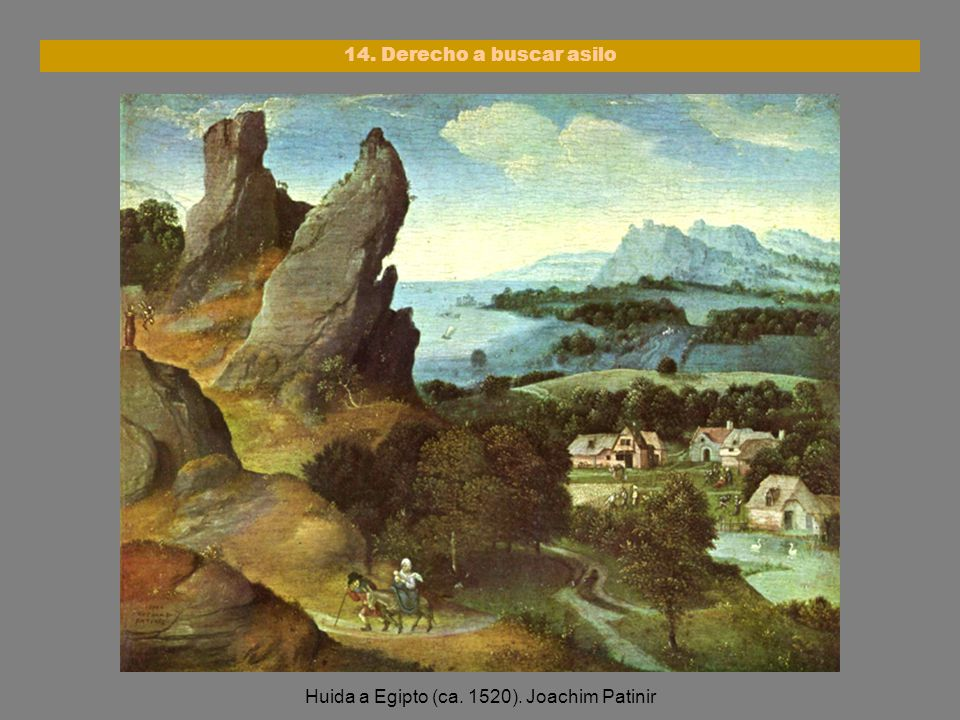 Huida a Egipto (ca. 1520). Joachim Patinir