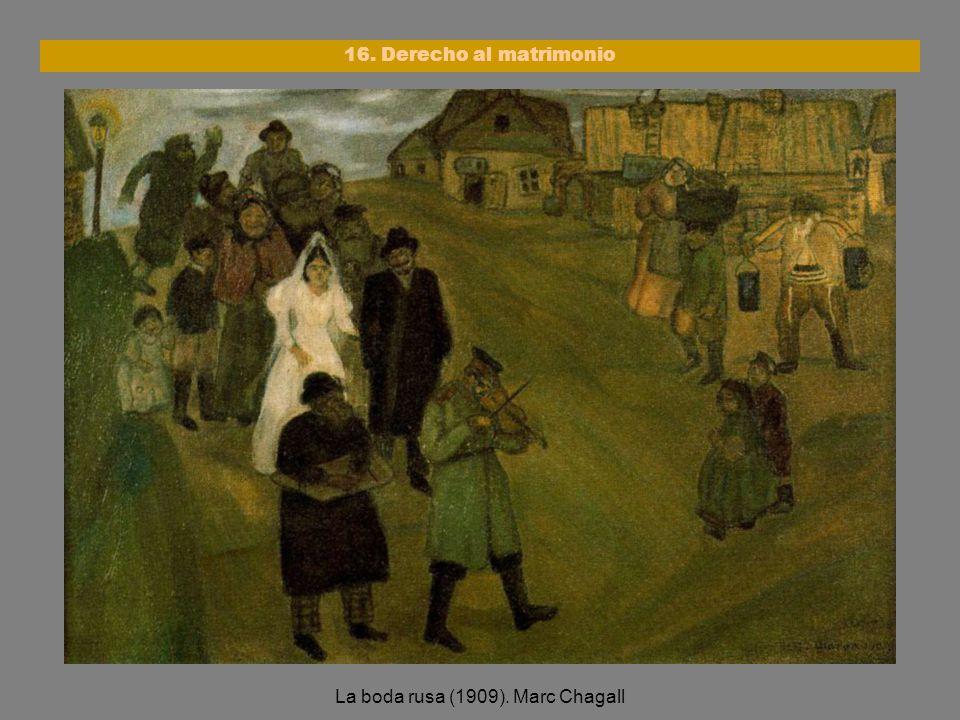 La boda rusa (1909). Marc Chagall