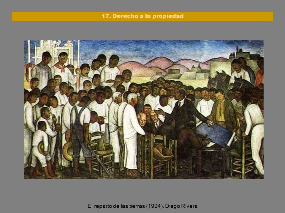 El reparto de las tierras (1924). Diego Rivera