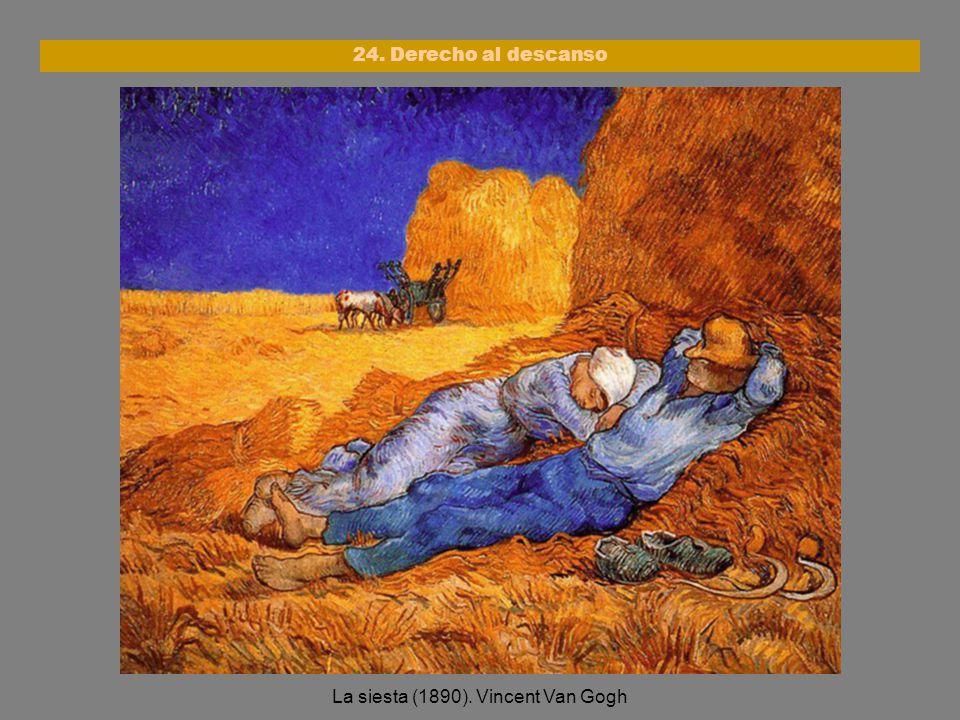 La siesta (1890). Vincent Van Gogh