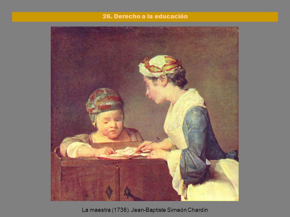 La maestra (1736). Jean-Baptiste Simeón Chardin