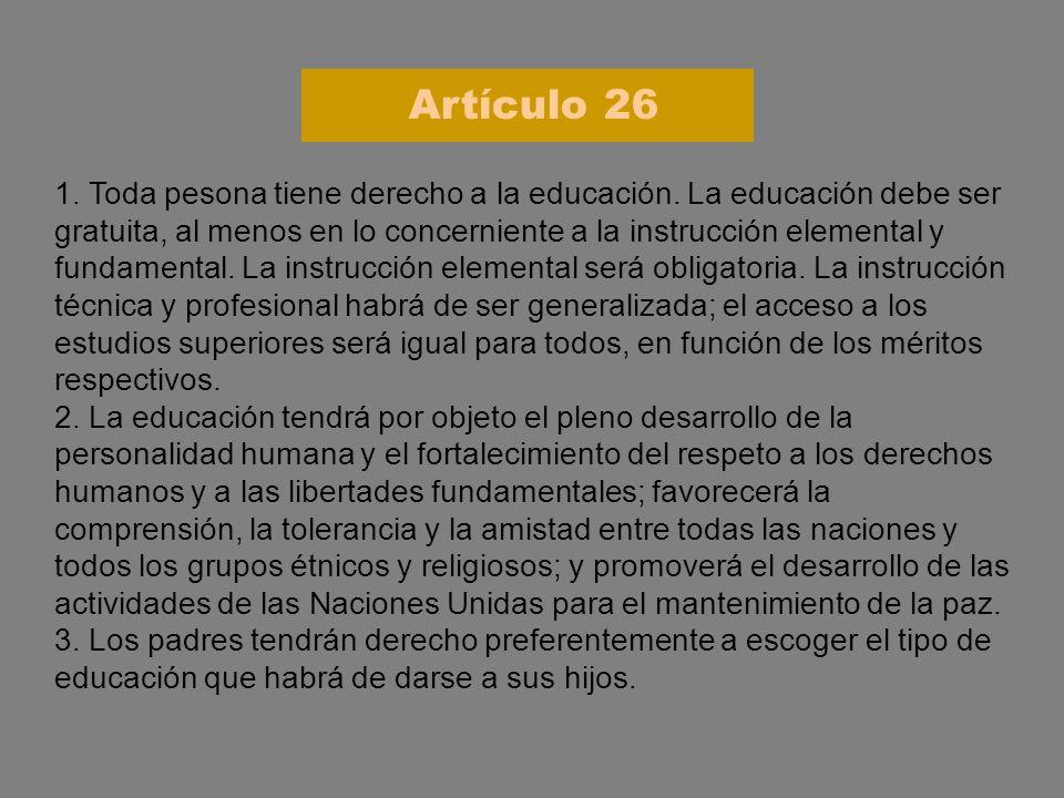 Artículo 26