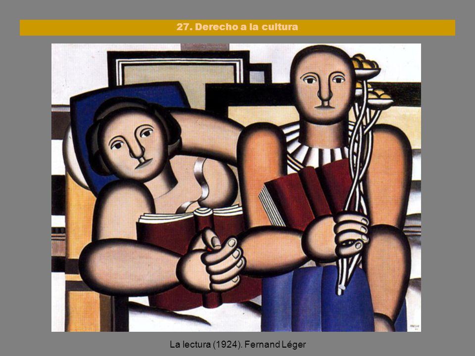 La lectura (1924). Fernand Léger
