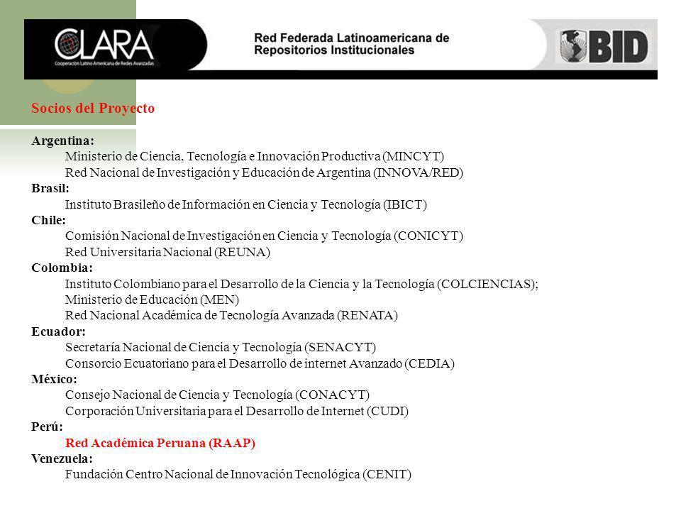Socios del Proyecto Argentina: