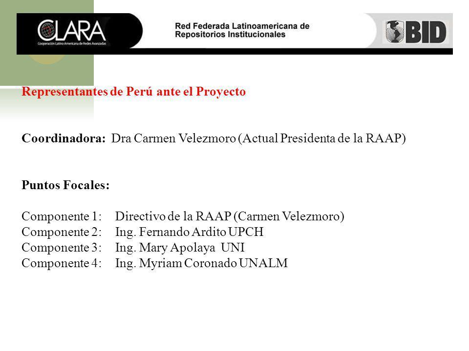 Representantes de Perú ante el Proyecto