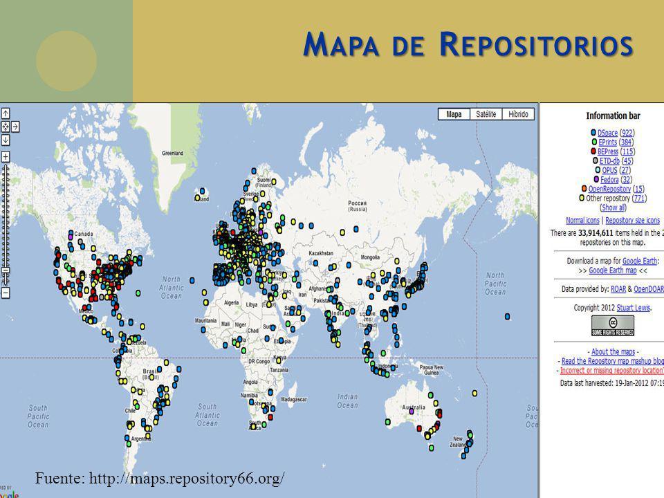Mapa de Repositorios Fuente: http://maps.repository66.org/
