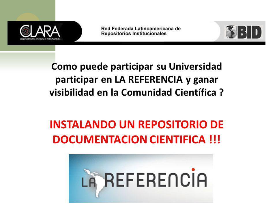 INSTALANDO UN REPOSITORIO DE DOCUMENTACION CIENTIFICA !!!