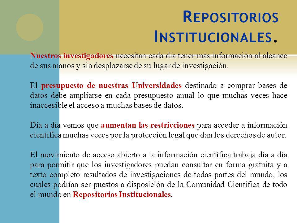 Repositorios Institucionales.