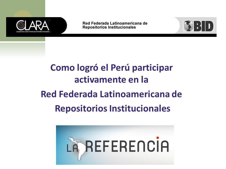 Como logró el Perú participar activamente en la