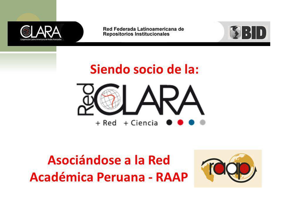 Asociándose a la Red Académica Peruana - RAAP
