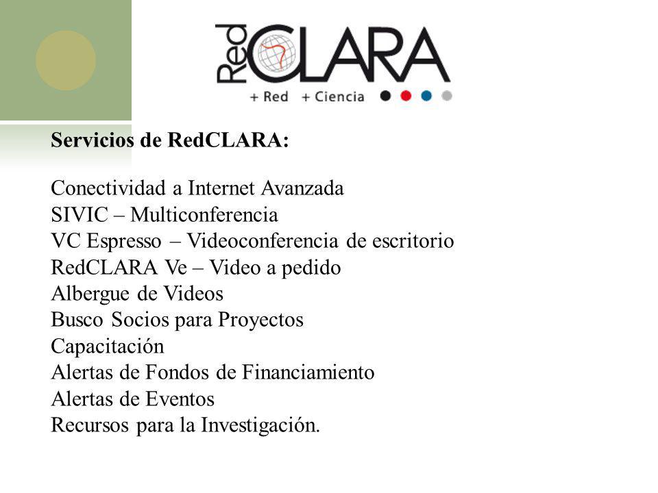 Servicios de RedCLARA: