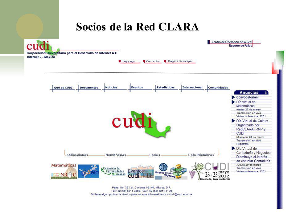Socios de la Red CLARA