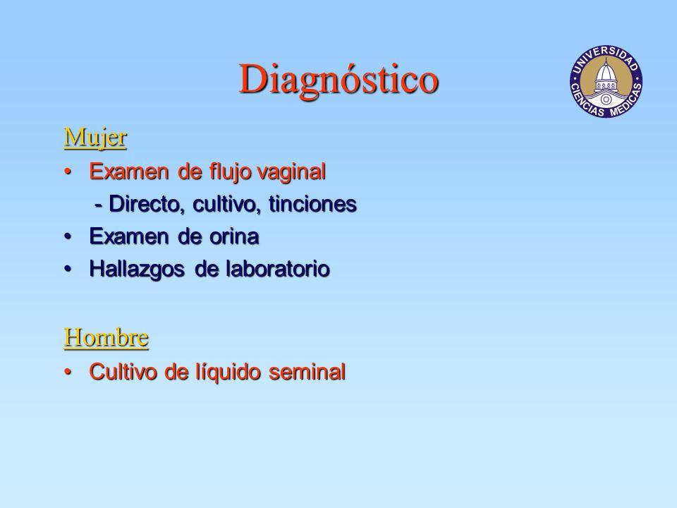Diagnóstico Mujer Hombre Examen de flujo vaginal