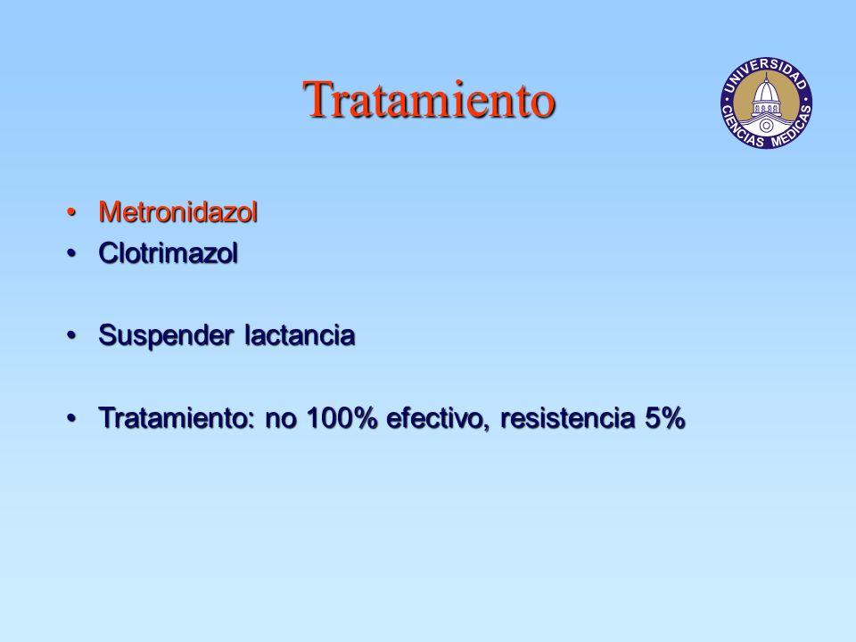 Tratamiento Metronidazol Clotrimazol Suspender lactancia