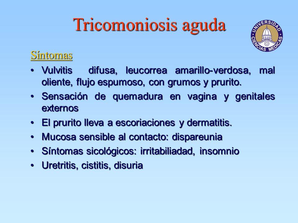 Tricomoniosis aguda Síntomas