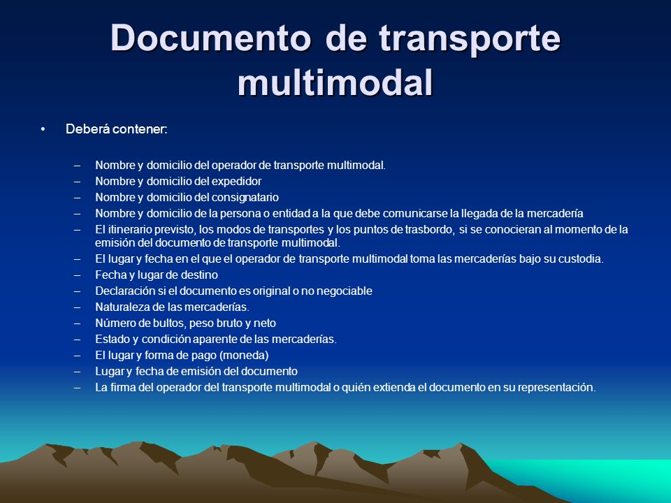 Documento de transporte multimodal