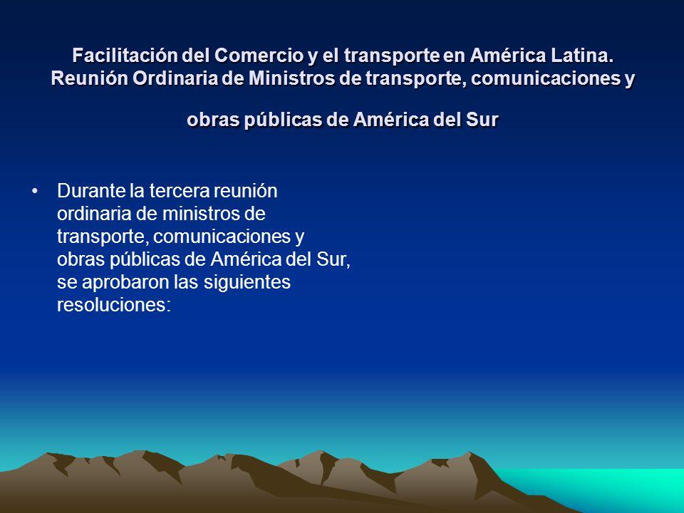 Facilitación del Comercio y el transporte en América Latina