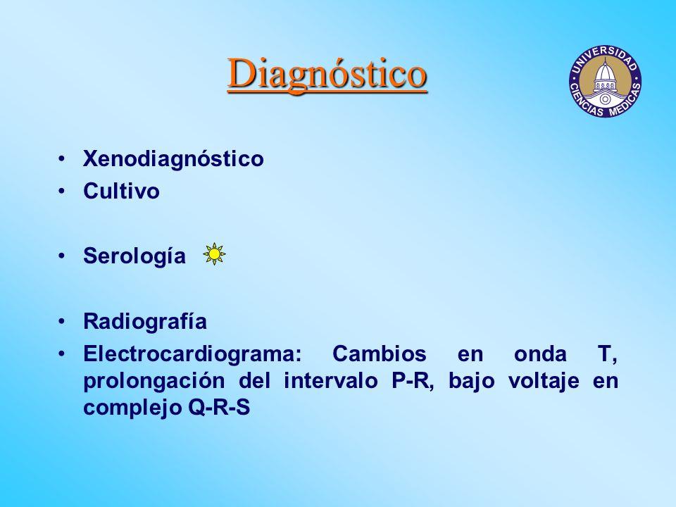 Diagnóstico Xenodiagnóstico Cultivo Serología Radiografía