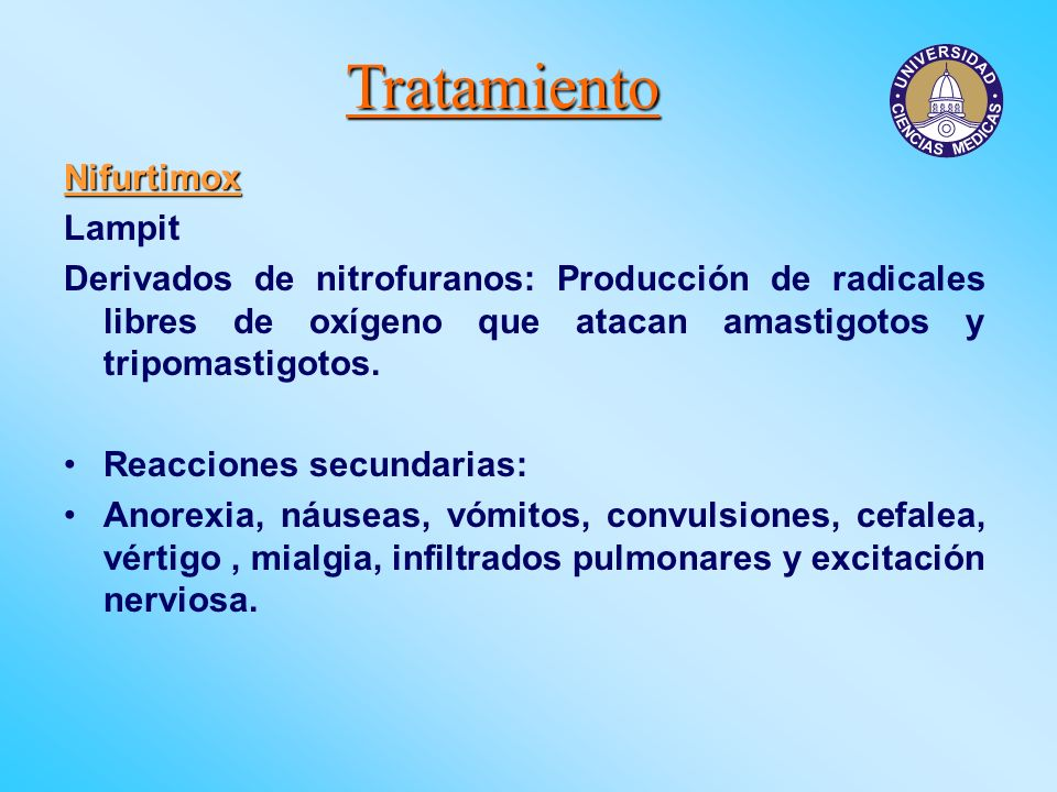 Tratamiento Nifurtimox Lampit