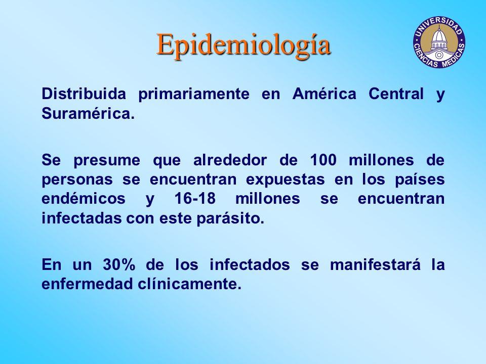 Epidemiología Distribuida primariamente en América Central y Suramérica.